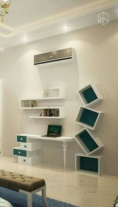 Home Decorating Style 2019 for Bedroom Design With Study Desk, you can see Bedroom Design With Study Desk and more pictures for Home Interior Designing 2019 7541 at Amazing Home Decor. Study Table Designs, Study Room Design, Kids Study Table Ideas, Home Office Design, House Design, Bookshelf Design, Study Rooms, Woodworking Furniture, Layout Design
