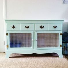 DIY rabbit hutch repurposed from a dresser!
