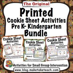Delivered right to your front door!  When you order the printed Pre K- Kindergarten Cookie Sheet Activities bundle you'll receive all the printed materials from three of our most popular cookie sheet activities as well as a painted cookie sheet!  Cookie sheet templates are printed in color on office paper.