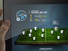 iPad soccer app - concept -
