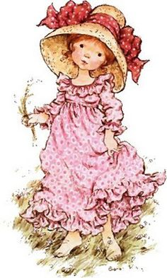 Betsey Clark, Holly Hobbie, Sarah Kay e outros Sarah Key, Holly Hobbie, Sarah Kay Imagenes, Mary May, Australian Artists, Cute Illustration, Vintage Cards, Vintage Children, Clipart