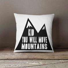 A personal favorite from my Etsy shop https://www.etsy.com/listing/463994865/navajo-pillow-mountain-quote-nursery