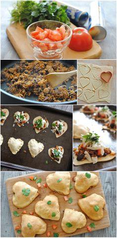 Tex-Mex Empanada Hearts for #ValentinesDay! #pillsbury