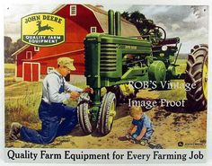 John Deere Farm Tractor Vintage Ad Poster by RobsVintageImages, $8.99