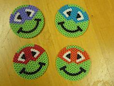 ninja turtle perler bead coasters