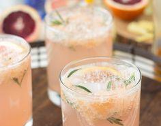 Sparkling Grapefruit Rosemary Cocktails | Blahnik Baker