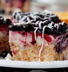 White Chocolate Blueberry Cheesecake Treats #dessert #recipes