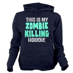 Funny Zombie Killing Women's Hooded Sweatshirt #zombies #apocalypse #walkingdead