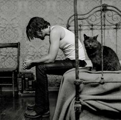 Chris Cornell (and a cat)  | Photographer Olaf Heine