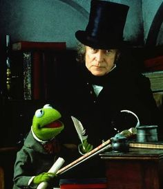 My favorite adaptation, my favorite Scrooge.  Muppet's Christmas Carol with Michael Caine.