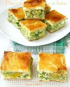 zucchini and feta pie Festive Bread, Healthy Cooking, Cooking Recipes, Avocado Salad Recipes, Good Food, Yummy Food, Romanian Food, Romanian Recipes, Sweet Pastries