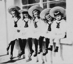 OTMAA: Olga, Tatiana, Maria, Anastasia, and Alexei Romanov. Children of the last Tsar and Tsarina of Russia, Nicholas ll and Alexandra Feodorovna.