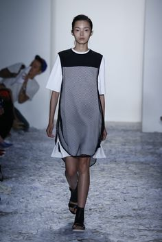 I like how the mesh part goes in and the rest of the dress flares out to the side,  Dao-Yi Chow and Maxwell Osborne; WWD
