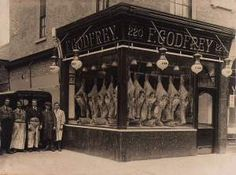 Early 1900's butcher shop