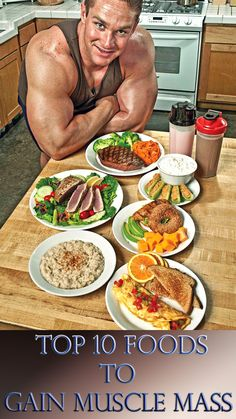 info: 6956733905 nutrition sportive food to gain muscle, Food To Gain Muscle, Muscle Building Foods, Muscle Food, Build Muscle, Gaining Muscle, Bodybuilding Breakfast, Bodybuilding Diet, Natural Bodybuilding, Bodybuilding Recipes