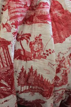 "Trouvais 18th c quilted toile ""Chariot of the Dawn"" Sallie Ead"