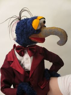 Gonzo – Constructed from foam and fur. All clothes are hand made and components assembled by myself.   Disclaimer: This is a replica of a character from the Muppets. All puppets have been made by myself for my own personal collection and not for sale.