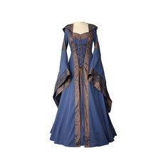 dornbluth.co.uk medieval dresses Clothing ❤ liked on Polyvore featuring dresses