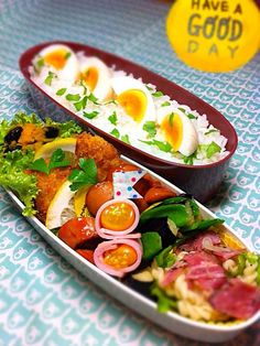 Lots of protein in this chicken karaage(meatball) bento with an egg.