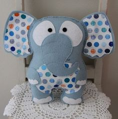 Felt elephant toy