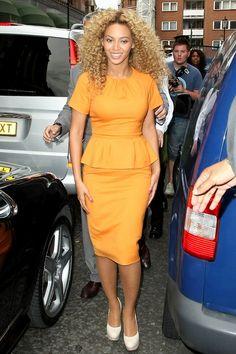Beyonce in Peplum