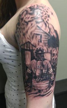 Firefighter Tattoo by Harley Gray                                                                                                                                                                                 More