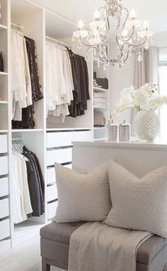 Bedroom Into Dressing Room, Elegant Homes, Art Of Living, Life Is Beautiful, Closets, Boudoir, Luxury, Neutral, Home Decor