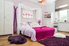 Schlafzimmer rosa lila weiß romantisch