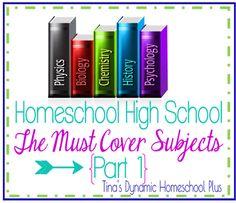 Homeschool High School The Must Cover Subjects Part 1  #ihsnet