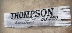 Hey, I found this really awesome Etsy listing at https://www.etsy.com/listing/219609106/personalized-rustic-farm-sign-family
