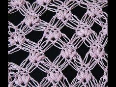 Crochet : Punto Esponjoso y Salomon Recto