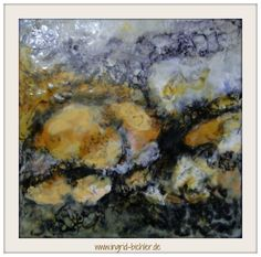 Geological abstract encaustic *abstract and mixed media artist* www.ingrid-bichler.de