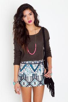 love this Aztec-inspired pyramid skirt