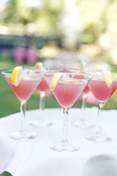 Beautiful drinks for an outdoor event