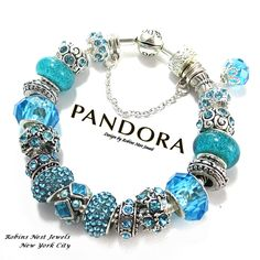 Authentic Pandora Bracelet, Sterling Silver,Or , European Bracelet, Silver Plated,NotPandora Both with,Non Branded Mixed Charms, T1205.1