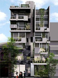 ARQUIMASTER.com.ar   Proyecto: Edificio vivienda multifamiliar Río Papaloapan 15 (Cuauhtémoc, México DF) - Taller 13 arqs.   Web de arquitectura y diseño