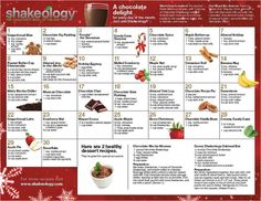 Chocolate Shakeology Recipes     Try these yummy Shakeology recipes.  Healthiest meal of the day.  21 Day Fix approved