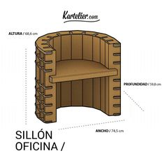 Sillon Despacho - Kartelier | Muebles de cartón