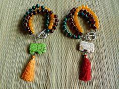 Sacred Elephant Bracelet. Mala Bracelet Yoga by NOMADSTRADE, $18.00