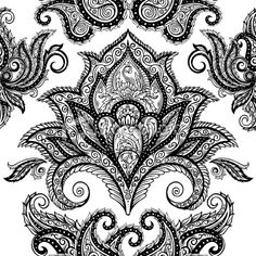 paisley background pattern Royalty Free Stock Vector Art Illustration