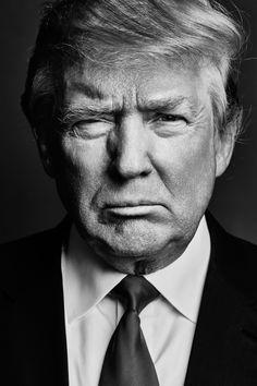 Donald Trump portrait for Esquire, John Trump, Trump Is My President, Black And White Portraits, Black And White Photography, Trump Photo, Presidential History, Greatest Presidents, Best Portraits, Best Portrait Photographers