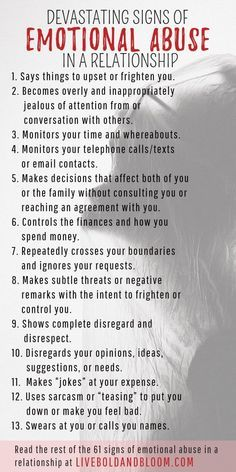 Learn to recognize the signs of emotional abuse in relationships so you can start reclaiming your power and self-esteem. psychology 61 Devastating Signs Of Emotional Abuse In A Relationship Narcissistic Behavior, Narcissistic Abuse Recovery, Narcissistic Personality Disorder, Narcissistic Sociopath, Narcissistic Men Signs, Sociopath Traits, Narcissistic Husband, Codependency Recovery, Toxic Relationships