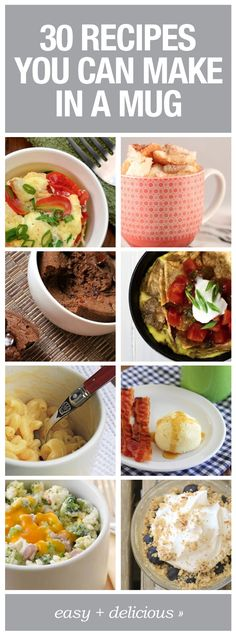 Here are simple meals made in a mug!