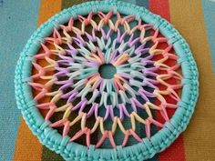 Rainbow Loom (4 inch) Dreamcatcher ~SPED UP TUTORIAL~ - YouTube