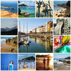 North Spain summer trip. Photo tiles mosaic. ANIA W PODRÓŻY travel blog and photography