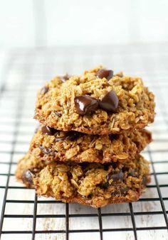 Healthy Cookie Recipes, Chocolate Cookie Recipes, Oatmeal Chocolate Chip Cookies, Healthy Recipe Videos, Healthy Chocolate, Healthy Sweets, Healthy Cookies, Chocolate Chips, Yogurt