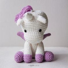 Amigurumi Crochet Unicorn Pattern Peachy Rose the by pepika