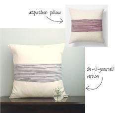 anthropoligie inspired pillow...I'm totally going to make a couple of these for our couch :)