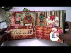 2010 File Folder Christmas Mini Album - YouTube