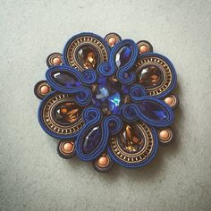 Photo from keytstone Shibori, Soutache Pendant, Soutache Necklace, Boho Jewelry, Beaded Jewelry, Jewelery, Soutache Tutorial, Diy Jewelry Inspiration, Beading Projects